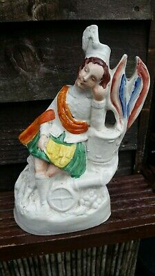 Staffordshire Pottery Figure Man Asleep On A Cannon. • 1.99£