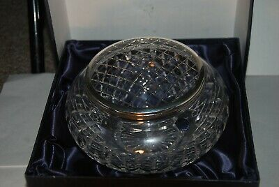 Large  Boxed Stuart Crystal Rose Bowl In Unused Condition • 22.40£