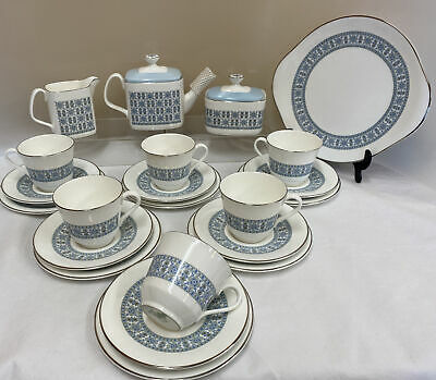 Royal Doulton 'Counterpoint' H5025 21 Piece Teaset (D3) • 19.99£