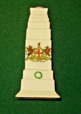 Arcadian Crested Ware China Cenotaph With Cityof London Crest  • 5£
