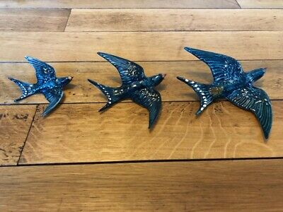 Beswick Perfect Condition Set Of Three Swallows Rare And Stunning Wall Plaques • 120£