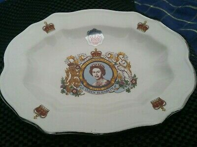 Vintage Prince William Pottery Silver Jubilee Oval Dish~1977 Queen Elizabeth~VGC • 2.99£