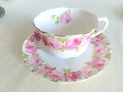 Vintage   Royal Doulton   Pink  Rose  Cup  And  Saucer  • 3£