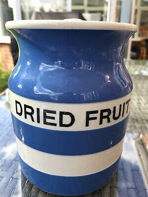 DRIED FRUIT T G Green Cornishware TG Cornish Ware Jar • 250£