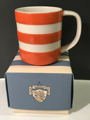 CORNISH WARE Cornishware Mug ORANGE STRIPE New Boxed 10oz HALLOWEEN • 24.95£