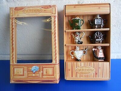 Vintage Paul Cardew Tiny Teapot Collection X 6 New In Presentation Box • 25£