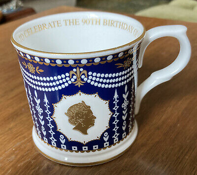 Fine Bone China Mug-William Edwards, England-90th Birthday Of Queen Elizabeth II • 1.40£