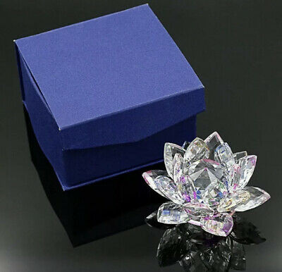 Large Multi Crystal Lotus Flower Ornament With Gift Box  Crystocraft Home Decor • 9.99£