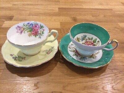 Two Vintage Foley Cups And Saucers • 18.50£