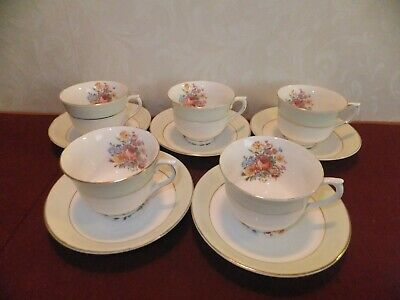 Vintage Vale Cup And Saucer X 5 • 18.50£