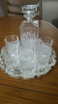 Crystal Set 6 Glasses And Decanter. • 35£