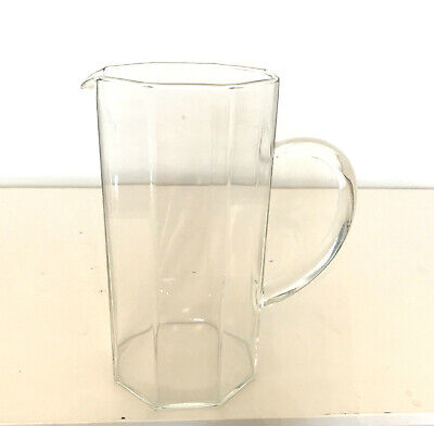 LUMINARC ARCOROC FRANCE- OCTAGONE OCTIME CLEAR PITCHER/1980/clear Handle • 22.41£