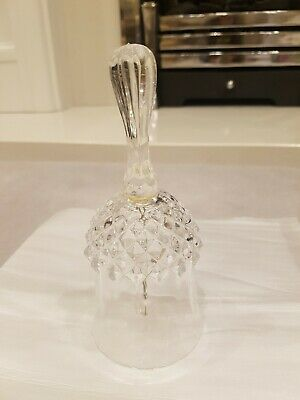 Crystal Dinner Bell Cristal A'arques Longchamp Ringing Bell  • 1£