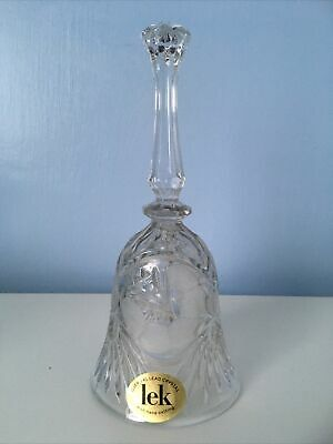 "24 Lead Crystal Bell With Hand Cutting 8"" High • 3£"