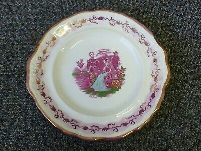 Antique Staffordshire Pink Lustre Pottery Sandwich Plate Queen Victoria & Albert • 25£