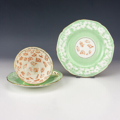 Vintage Paragon China - Fortune Tellers Cup, Saucer & Tea Plate Trio • 25£