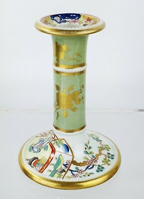 Antique Masons Ironstone Pottery Candlestick Candle Regency Staffordshire C1820 • 225£