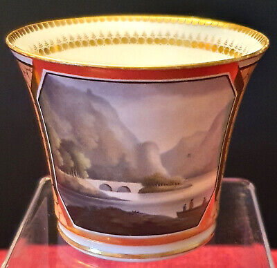Good Chamberlains Worcester Hand Painted Tea Cup C1815 • 55£