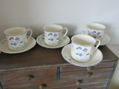 Royal Doulton 4 X Cups And Saucers Minerva Ls1084. • 12.99£