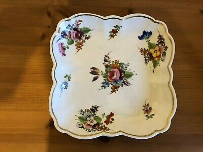 Antique Derby Dish Hand Painted Flowers C1820 • 45£