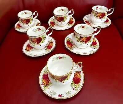 6 Vintage Queens Rosina Fine Bone China Cup And Saucer Set Made In England VGC • 25£