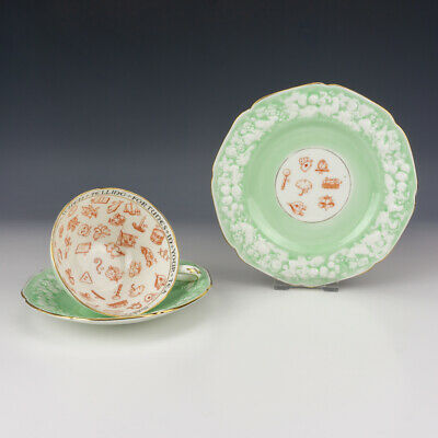 Vintage Paragon China - Fortune Tellers - Clairvoyant's Cup Saucer & Plate Trio • 10.50£