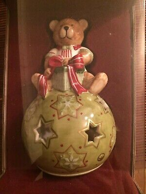 NEW VILLEROY & BOCH Christmas Decoration. Ball Of Light Bear With Gift Box • 10£