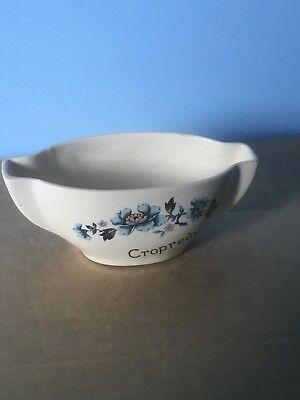 New Devon Pottery Boat Shaped Posy Vase • 6£