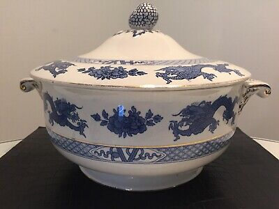 Stunning Large Vintage Booths Silicon China Dragon Decorated Tureen • 9.99£