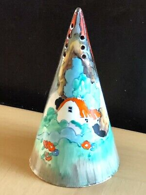 Clarice Cliff Forest Glen Conical Sugar Sifter - Vintage, Art Deco. C1936. • 395£