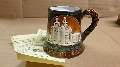 The Liver Buildings Ferry Mersey Ltd Ed Great Yarmouth Pottery Tankard Mug  • 7.95£