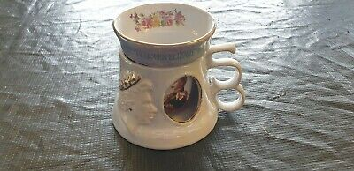 Great Yarmouth Pottery Queen Elizabeth Golden Jubilee Tankard With Beaker Mug • 7.95£