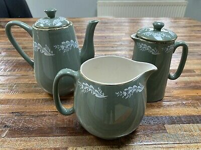 Lord Nelson Pottery, 1950's Lichen Green Elijah Cotton, Jugs And Tea Pots  • 7.60£