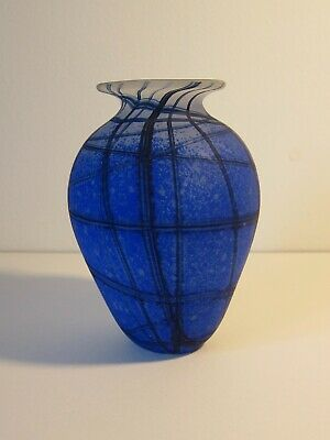 JULIA DONNELLY 1999 Signed, British Studio Glass Vase • 28£