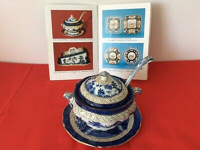 Booths Real Old Willow 9072 Sauce Tureen, Ladle & Underplate-very Good Condition • 150£
