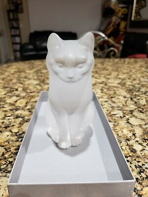 LALIQUE France  CHAT ASSIS  Art Glass Crystal Sitting Cat #1160300 With Box • 338.11£