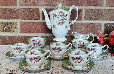 Vintage Paragon By Appointment Fine Bone China 'Rockingham' Coffee Set • 170£