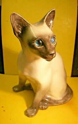 Vintage Winstanly Siamese Cat  -  Size 6  - Perfect Condition  - Seated Position • 99£
