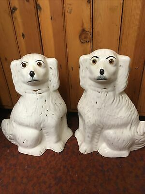 "Pair Of Vintage Sadler Burslem Wally Dog Spaniels 12""height • 49£"
