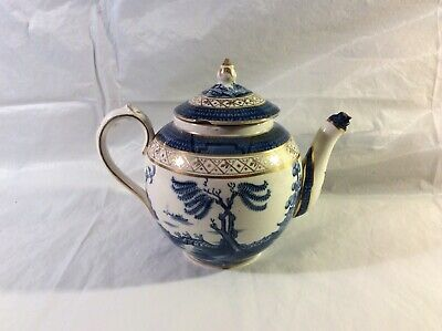 Beautifully Gilded Booths Real Old Willow Pattern. No. 9072 Large Round Tea Pot • 35£