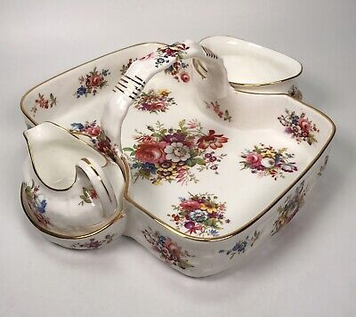 Hammersley China Strawberry Basket, Sugar Bowl & Cream Jug • 59.99£
