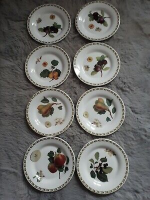 Queen's, RHS, Hookers Fruit, 8x Tea / Side Plates, 6⅜  Inches (16.2cm)  • 21.99£