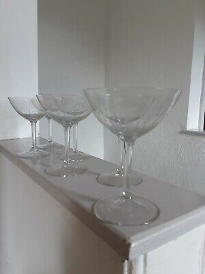 6x Old Vintage Etched Glass Exquisite Coctail Glasses - Pre-owned  • 23.99£