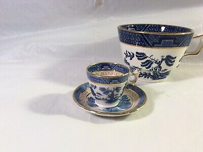 RARE! Booths Real Old Willow Miniature Salesman Sample - Cup & Saucer Gorgeous! • 75£