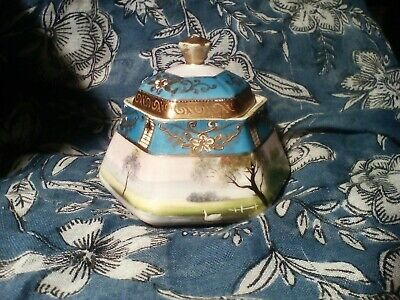 Noritake China Hexagonal Body Lidded Trinket Pot  • 0.99£