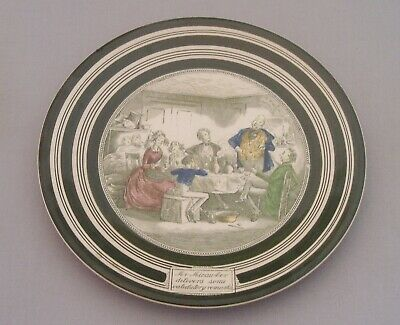 Vintage Antique Adams Pottery Charles Dickens David Copperfield Wall Plate • 9.99£