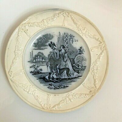Antique Creamware /  Blue Transfer Printed Plate Full Backstamp 18.5 Cms  • 2.99£