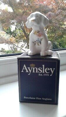 AYNSLEY COTTAGE GARDEN FINE BONE CHINA MINI PUPPY ORNAMENT, APPROX. 9cm TALL • 12.99£