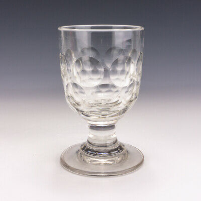 Antique Early Georgian Glass - Rummer Drinking Glass - With Bullseye Patterning • 14.50£