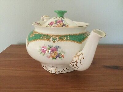 PARAGON HONITON GREEN FLORAL GOLD BEAUTIFUL TEASET - Excellent Condition • 150£